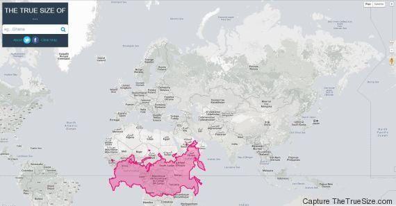 Carte Du Monde Realiste.En Images Une Carte Du Monde Montre Les Pays A Leur Vraie Taille