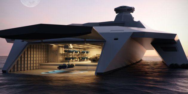 PHOTOS. Le navire de guerre du futur ressemblera-t-il à