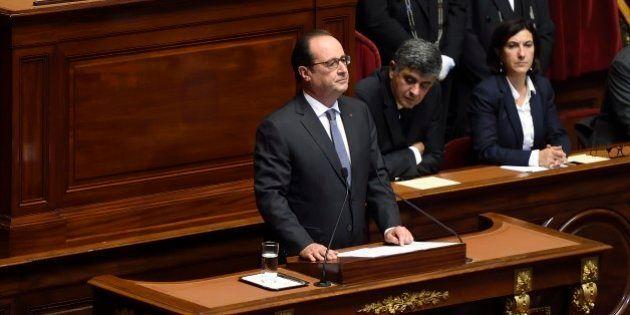 Au Congrès, le virage ultrasécuritaire de Hollande en vue d'une guerre intérieure