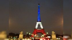 La Tour Eiffel s'illumine de bleu banc rouge pour trois