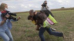 La journaliste hongroise qui a frappé des migrants fera l'objet d'une enquête