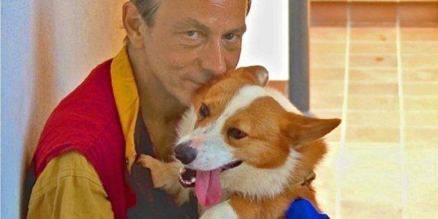 Michel Houellebecq a fait de son chien la star de son expo