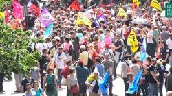 Notre reportage dans la manifestation
