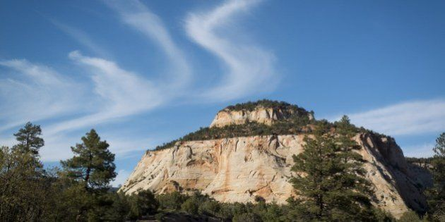 A rock formation seen in Zion National Park near Springdale, Utah on May 13, 2014. Zion National Park...