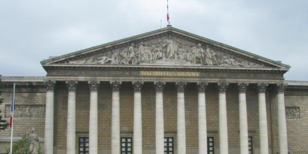 Assemblee Nationale National Assembly) is the Lower House of the French Parliament, Paris, France. Photographed...