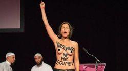 Des Femen perturbent le salon de la femme musulmane à