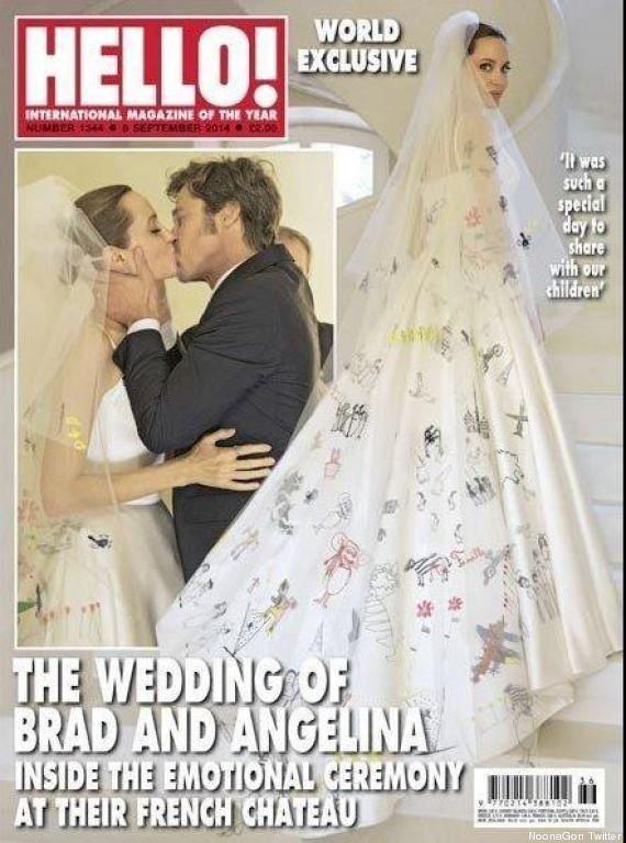 Des photos du mariage de Brad Pitt et Angelina Jolie dévoilées dans la presse