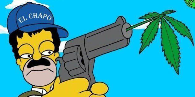 PHOTOS. Homer Simpson transformé en narcotrafiquant pour lutter contre la guerre de la