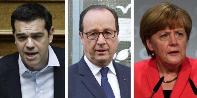 Vote de la Grèce: François Hollande cherche la bonne réponse face à Alexis Tsipras et Angela
