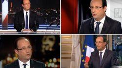 Hollande à la télévision: à chaque passage, son