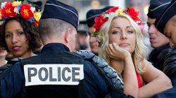 Une trentaine de Femen manifestent à