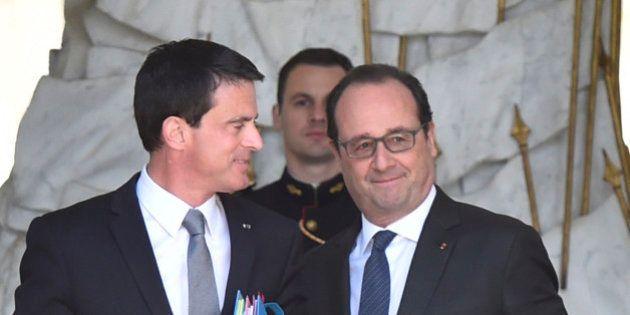 François Hollande et Manuell Valls se félicitent de la victoire du