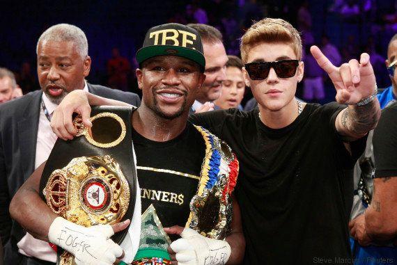 VIDÉO. Justin Bieber éjecté du ring par la sécurité après le dernier combat de Floyd Mayweather