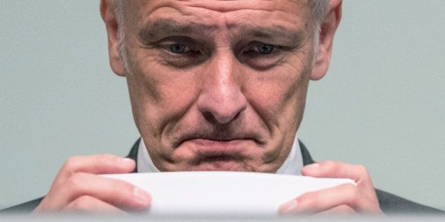 Volkswagen CEO, Matthias Mueller, attends the annual shareholder meeting in Hannover, Germany, Wednesday...