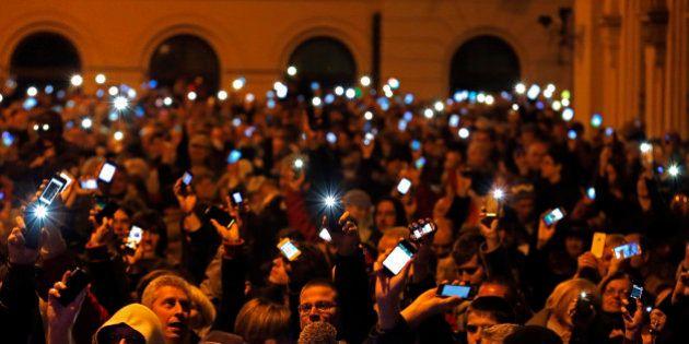 PHOTOS. Hongrie: 10.000 manifestants contre une taxe sur l'utilisation