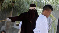 Cinco parejas indonesias azotadas en Aceh por verse a solas sin estar