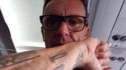 Pascal s'est fait tatouer en hommage à