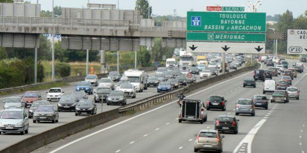 Info trafic: jusqu'à 361 km de bouchons dimanche sur la route des