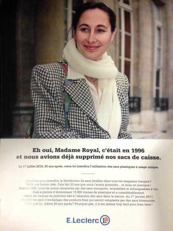 Interdiction des sacs plastiques: Que fait une photo de Ségolène Royal de 1996 sur des pubs E.