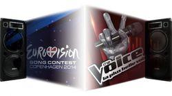 Suivez l'Eurovision et la finale de The Voice en direct et en stéréo (à partir de