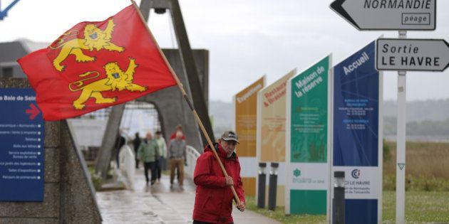 Réunification de la Normandie: rassemblement de quelques dizaines de manifestants au