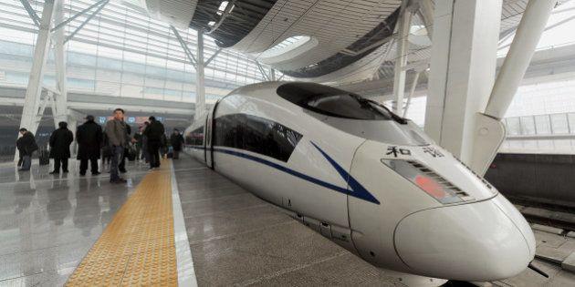 Un train entre la Chine et les États-unis