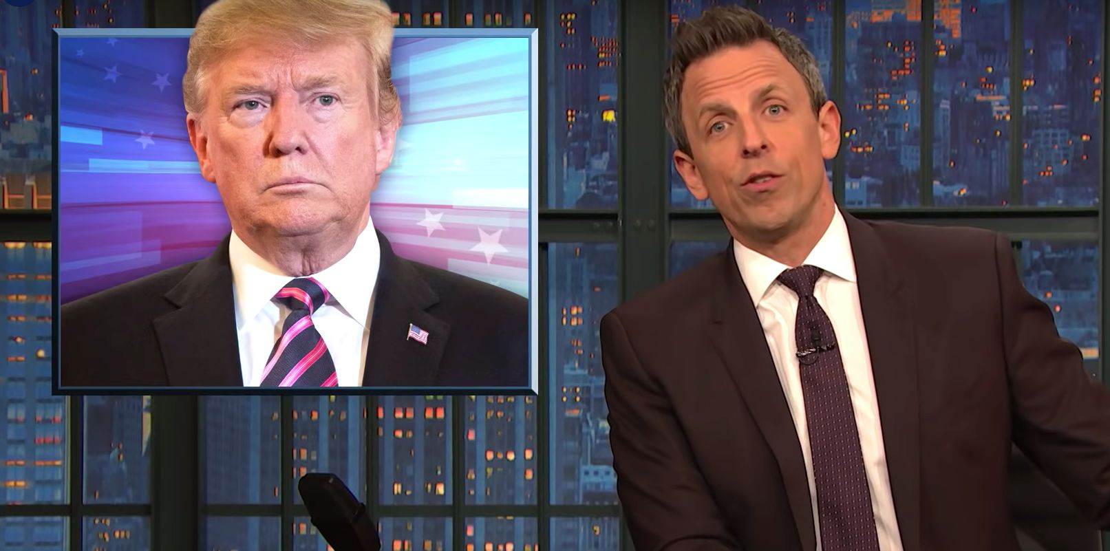 Seth Meyers Turns Donald Trump's 'Husband From Hell' Attack On George Conway Right Back At Him