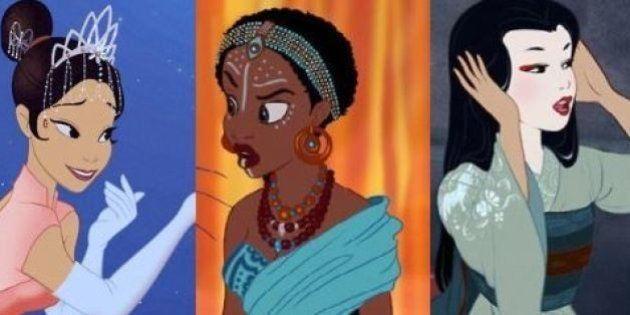 PHOTOS. Les princesses Disney changent de couleur de