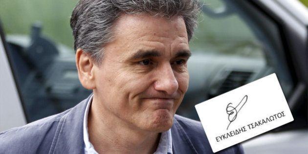 La signature du ministre des Finances grec, Euclide Tsakalotos, fait rire les internautes par sa ressemblance...