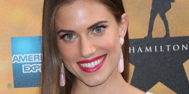 NEW YORK, NY - AUGUST 6: Allison Williams at the gala opening of the new musical 'Hamilton' on Broadway...