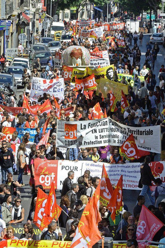 PHOTOS. Salaires: des dizaines de milliers de fonctionnaires défilent en