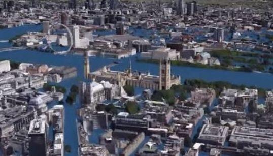 Ce que pourrait donner la montée des eaux dans les grandes villes du