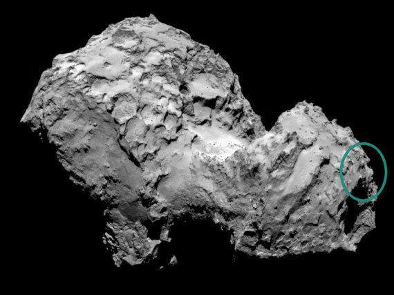 PHOTO. Rosetta: les internautes voient un visage dans la photo de la comète Tchouri prise par la