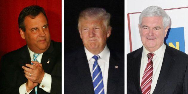 Chris Christie et Newt Gingrich ont tous les deux à subir la terrible épreuve du