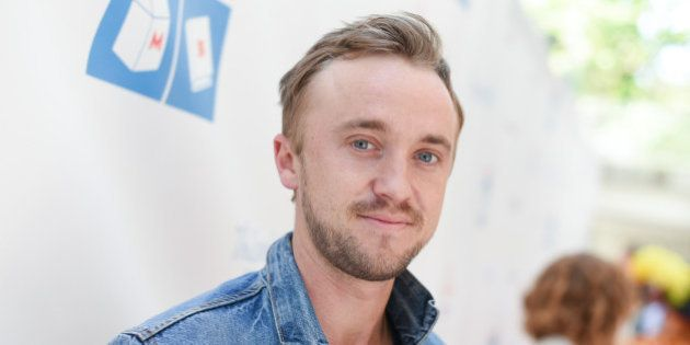 Tom Felton arrives at Milk + Bookies Story Time Celebration held at the Skirball Cultural Center on Sunday,...
