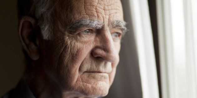 Portrait of Elderly man lost in thought