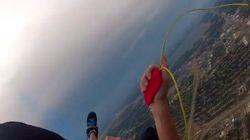 Il a perdu son parachute principal en plein saut et ce moment terrifiant a été