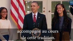 Les filles Obama pouffent de rire à toutes les blagues de leur