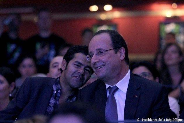PHOTOS. François Hollande à la finale d'un concours d'improvisation avec Jamel