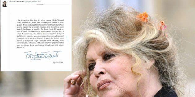 L'hommage de Brigitte Bardot à Michel Rocard, à qui elle écrivait