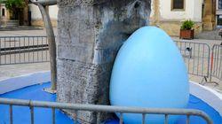 La mairie FN de Hayange va (encore) repeindre sa fontaine... et la