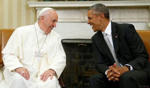 PHOTOS. Le pape François est arrivé, pour la première fois, aux