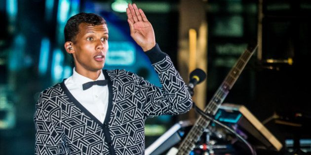 LAS VEGAS, NV - April 16: ***HOUSE COVERAGE*** Stromae performs at The Boulevard Pool at The Cosmopolitan...