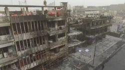 Les images impressionnantes prises d'un drone après l'attentat de