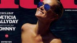 Laeticia Hallyday seins nus en couverture de