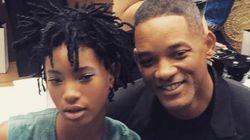 Will Smith et sa fille maquillés au défilé