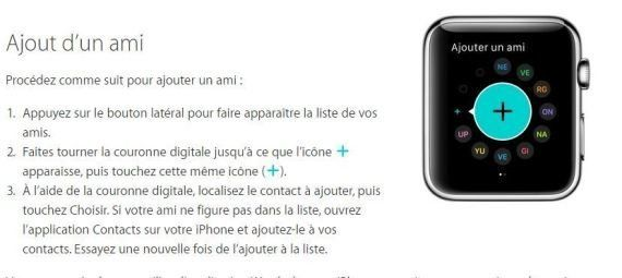 L'assistance de l'Apple Watch