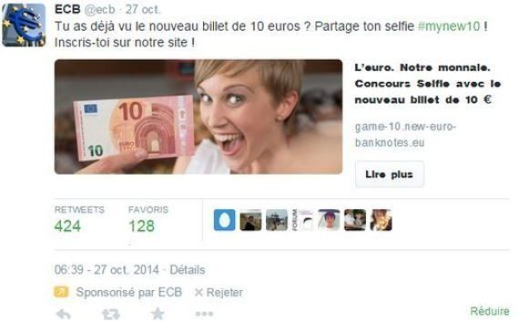 Nouveau billet de 10 euros: le concours de selfie de la Banque centrale européenne