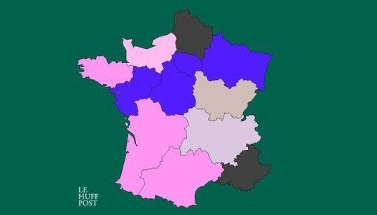 Les sondages région par région à une semaine du premier