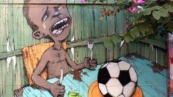 La vision du Mondial d'un street artist brésilien fait le tour du
